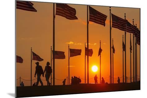 Washington DC Sunset.-Jon Hicks-Mounted Photographic Print