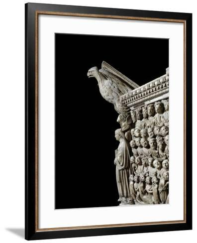 Gothic Art: an Eagle, by Pisano--Framed Art Print