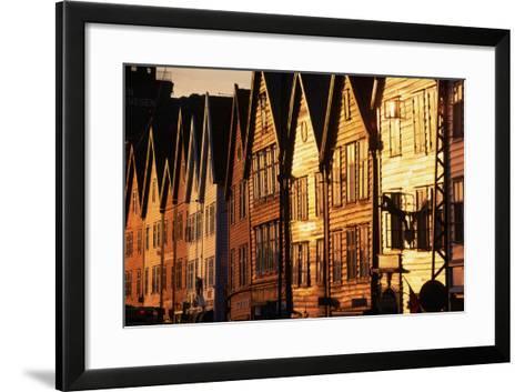 Old Merchant Houses at Sunset-Paul Souders-Framed Art Print