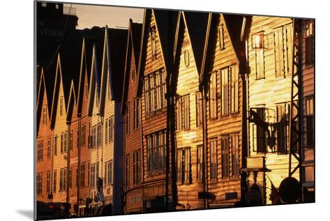 Old Merchant Houses at Sunset-Paul Souders-Mounted Photographic Print