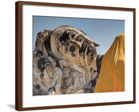Wat Lokaya Suttha in Ayutthaya Reclining Buddha-Terry Eggers-Framed Art Print
