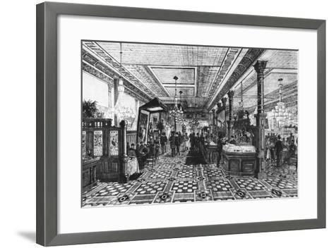 Hoffman Bar Room by F.G. De Fontain--Framed Art Print