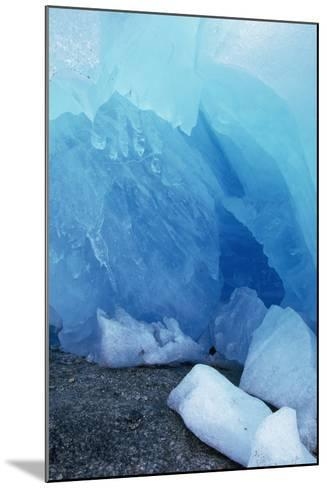 Blue Glacial Ice of Nigardsbreen Glacier, Norway-Paul Souders-Mounted Photographic Print