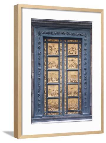 Le Porte Del Paradiso, East Side of Baptistery, by Lorenzo Ghiberti-Guido Cozzi-Framed Art Print
