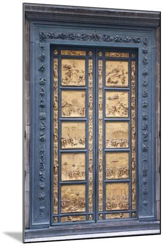 Le Porte Del Paradiso, East Side of Baptistery, by Lorenzo Ghiberti-Guido Cozzi-Mounted Photographic Print