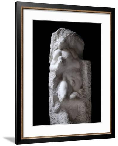 The Awakening Slave, by Michelangelo--Framed Art Print