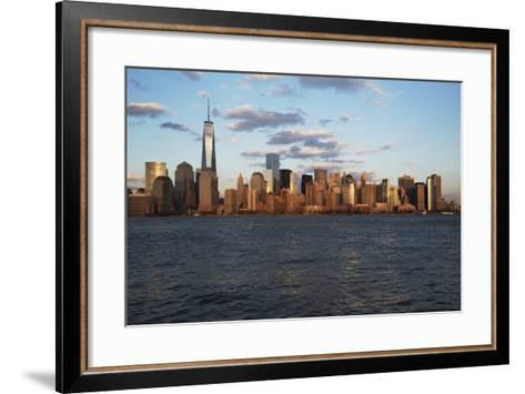 Panoramic View of New York City Skyline on Water Featuring One World Trade Center (1Wtc), Freedom T-Joseph Sohm-Framed Art Print