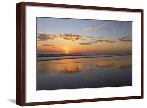 Low Tide Sunset on Playa Linda near Dominical-Stefano Amantini-Framed Art Print