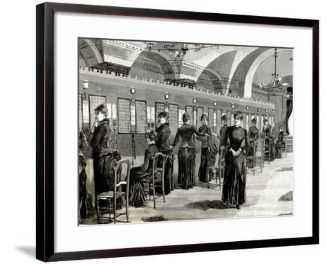 Telephone Service in Madrid. Central Office.-Tarker-Framed Art Print