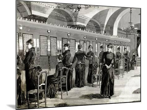 Telephone Service in Madrid. Central Office.-Tarker-Mounted Photographic Print