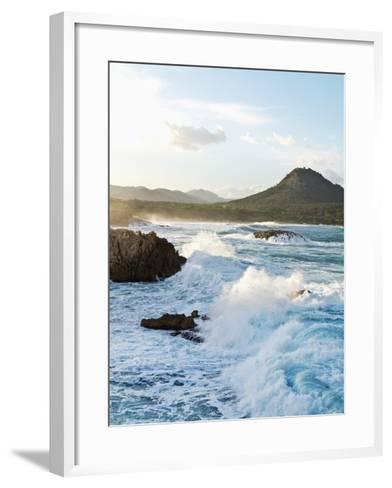 Waves Crashing on Rocks-Norbert Schaefer-Framed Art Print
