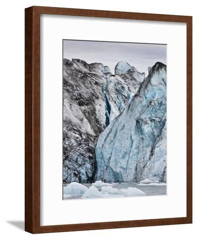 Ice Walls- Jokulsarlon Glacial Lagoon, Breidarmerkurjokull Glacier, Vatnajokull Ice Cap, Iceland-Arctic-Images-Framed Art Print