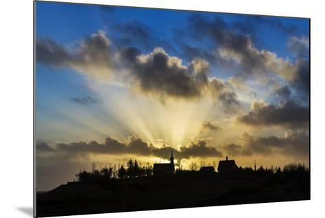 Sun Rays over Kotstrandarkirkja Church in Snaefellsnes Peninsula, Iceland-Arctic-Images-Mounted Photographic Print