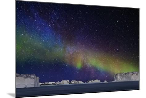 Aurora Borealis or Northern Lights over Icebergs-Arctic-Images-Mounted Photographic Print
