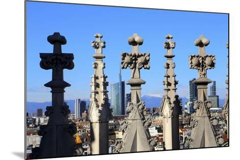 Milano New Skyline (Porta Nuova District) View from the Duomo.-Stefano Amantini-Mounted Photographic Print