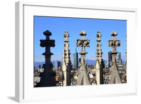 Milano New Skyline (Porta Nuova District) View from the Duomo.-Stefano Amantini-Framed Art Print