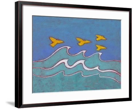 Illustration of Birds Flying above Sea-Marie Bertrand-Framed Art Print
