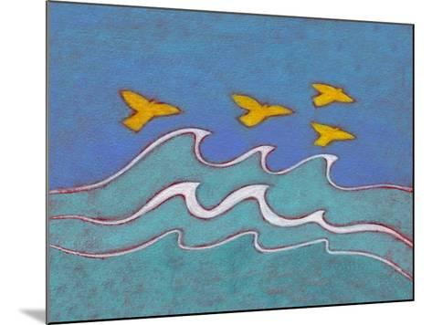 Illustration of Birds Flying above Sea-Marie Bertrand-Mounted Photographic Print