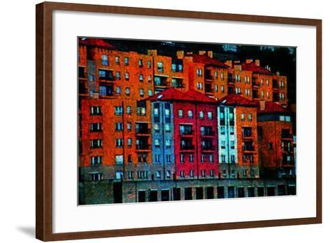 Colored Buildings-Andr? Burian-Framed Art Print