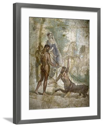Roman Art : Hercules Saving Deianira Raped by the Centaur Nessus--Framed Art Print