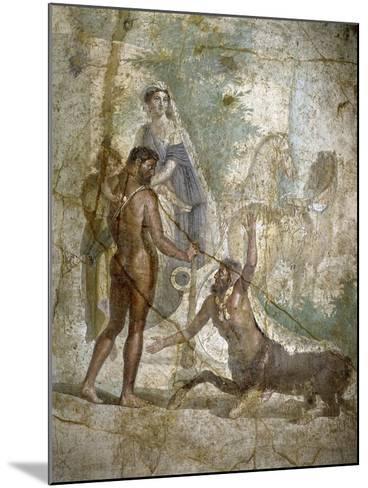 Roman Art : Hercules Saving Deianira Raped by the Centaur Nessus--Mounted Photographic Print