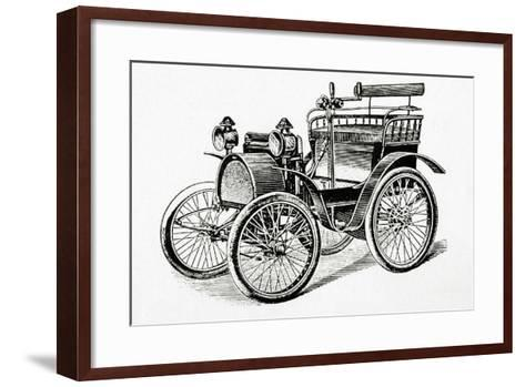 Car. 19Th Century. Engraving.-Tarker-Framed Art Print