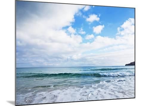 Cloudy Sky over Sea with Some Waves-Norbert Schaefer-Mounted Photographic Print