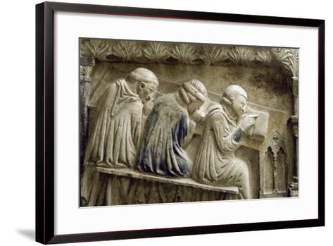 Students Attending the Lessons of Bonifacio Galluzzi--Framed Art Print