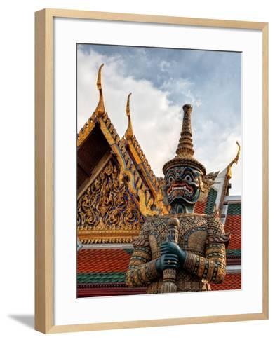 Yaksha at Wat Phra Kaeo the Grand Palace-Terry Eggers-Framed Art Print