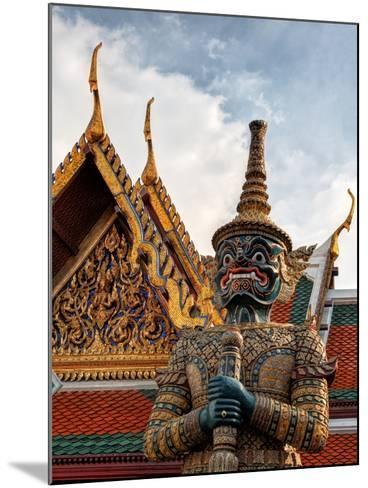 Yaksha at Wat Phra Kaeo the Grand Palace-Terry Eggers-Mounted Photographic Print