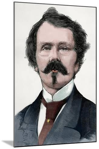 Thomas Mayne Reid (1818-1883). Scots-Irish American Novelist. Engraving. Colored.-Tarker-Mounted Photographic Print