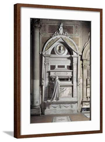 Monument to Gioacchino Rossini, by Cassioli--Framed Art Print