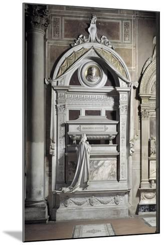 Monument to Gioacchino Rossini, by Cassioli--Mounted Photographic Print