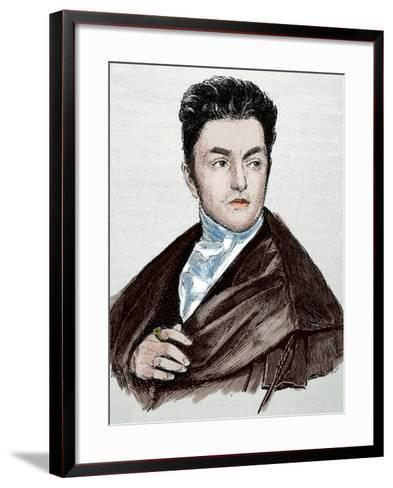 Maximilian Emanuel Von Lerchenfeld (1778-1843). Germany. Engraving. Colored.-Tarker-Framed Art Print