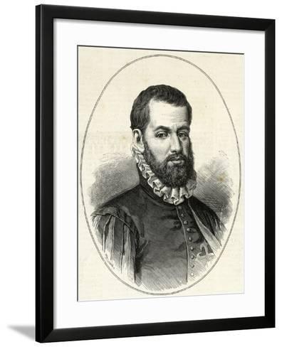 Pedro Menendez De Aviles (1519-1574). Engraving.-Tarker-Framed Art Print