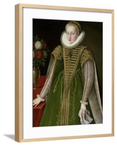 Portrait of Maria Christina of Austria, Princess of Transylvania--Framed Art Print