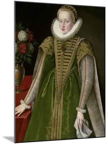 Portrait of Maria Christina of Austria, Princess of Transylvania--Mounted Photographic Print
