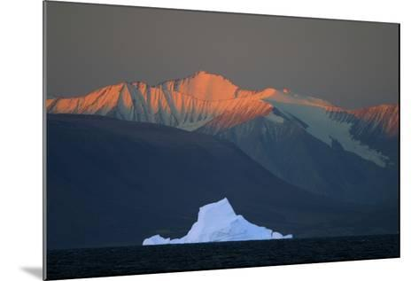 Iceberg in Front of Mountains-DLILLC-Mounted Photographic Print