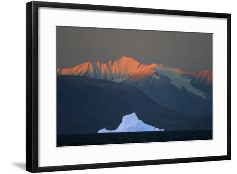 Iceberg in Front of Mountains-DLILLC-Framed Art Print