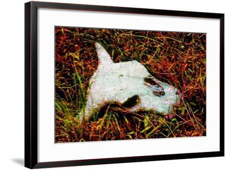 Cow Skull-Andr? Burian-Framed Art Print