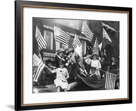 Suffragettes Celebrating Passing of 19Th Amendment--Framed Art Print