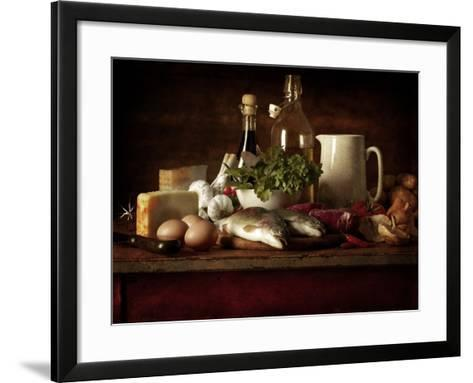 Range of Fresh Ingredients for Cooking-Steve Lupton-Framed Art Print
