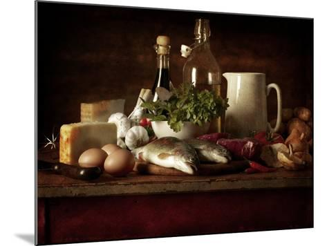 Range of Fresh Ingredients for Cooking-Steve Lupton-Mounted Photographic Print
