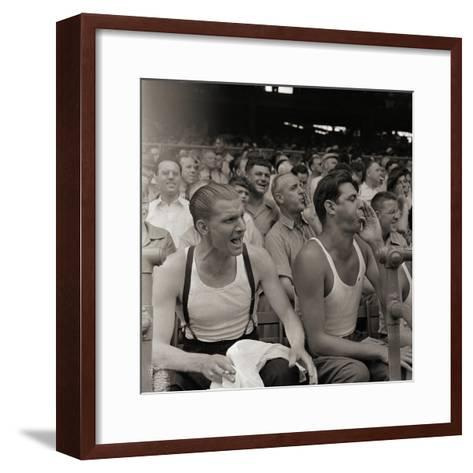 Men Booing Cincinnati Reds--Framed Art Print