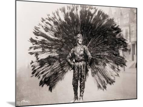 Man in Peacock Costume--Mounted Photographic Print