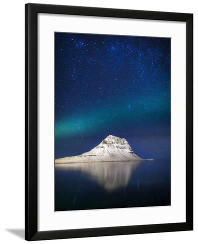 Aurora Borealis or Northern Lights in Iceland-Arctic-Images-Framed Art Print