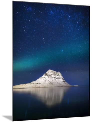 Aurora Borealis or Northern Lights in Iceland-Arctic-Images-Mounted Photographic Print
