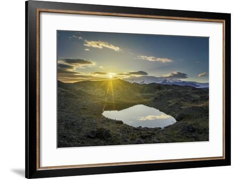 Sunset over Lava and Moss Landscape, Svinafellsjokull Glacier, Iceland-Arctic-Images-Framed Art Print