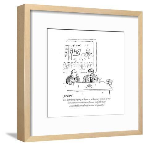 """""""I'm definitely hoping a Ryan or a Romney gets in at the convention?someon?"""" - Cartoon-David Sipress-Framed Art Print"""