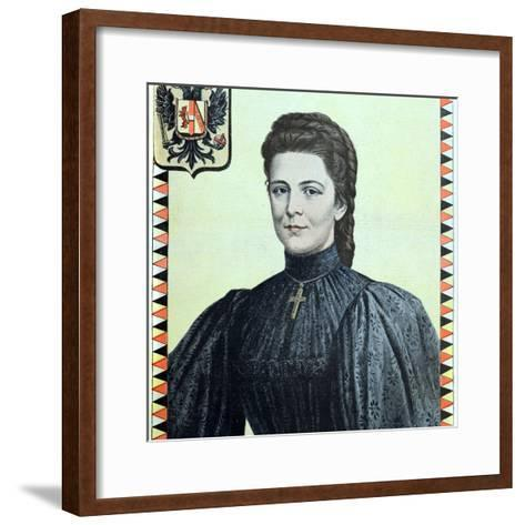 Empress Elisabeth of Austria 1937-98-Chris Hellier-Framed Art Print